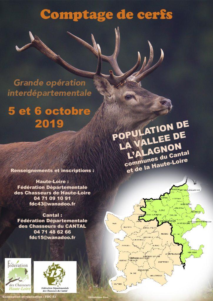 Participez à un comptage de Cerfs dans la vallée de l'Alagnon