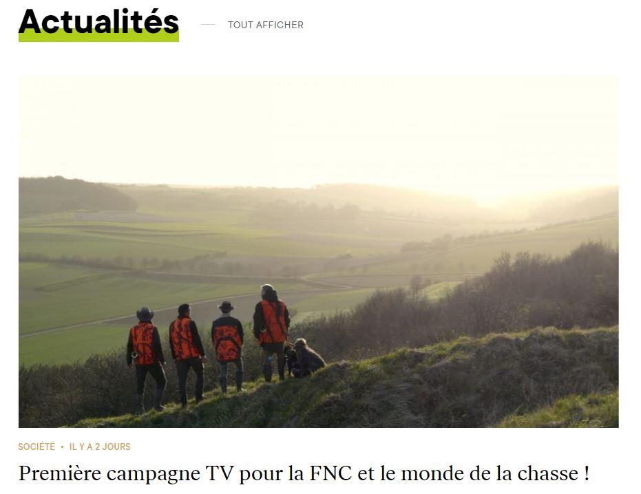 Première campagne télévisée des chasseurs de France