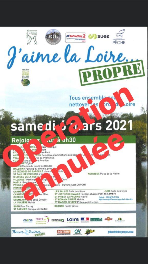 « J'aime la Loire…propre » – Opération annulée
