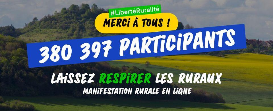 Ruralité : la première manifestation en ligne initiée par la FNC avec près de 380.000 participants !