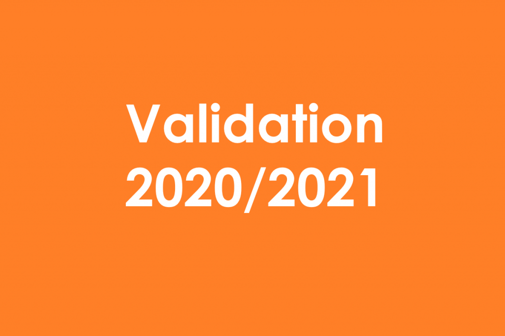 Validation 2020/2021