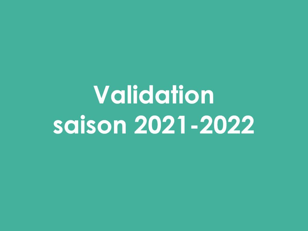 Validation 2021-2022