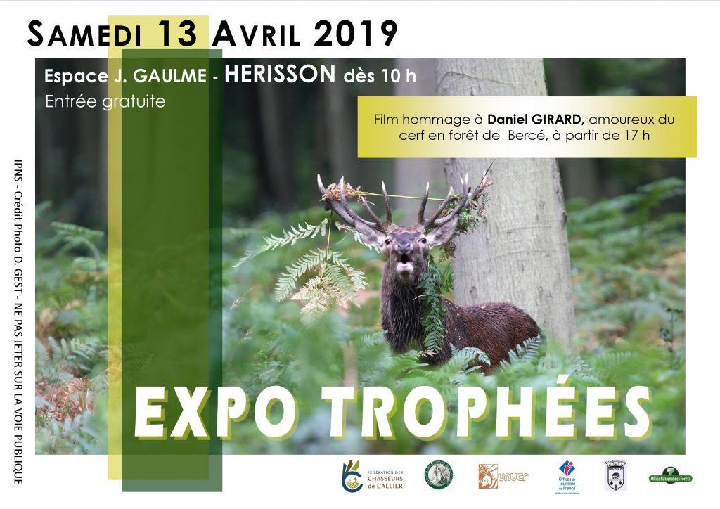 EXPOSITION DES TROPHÉES DE CERF : le 13 Avril à HÉRISSON